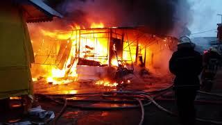 Большой пожар на Анголенко 5