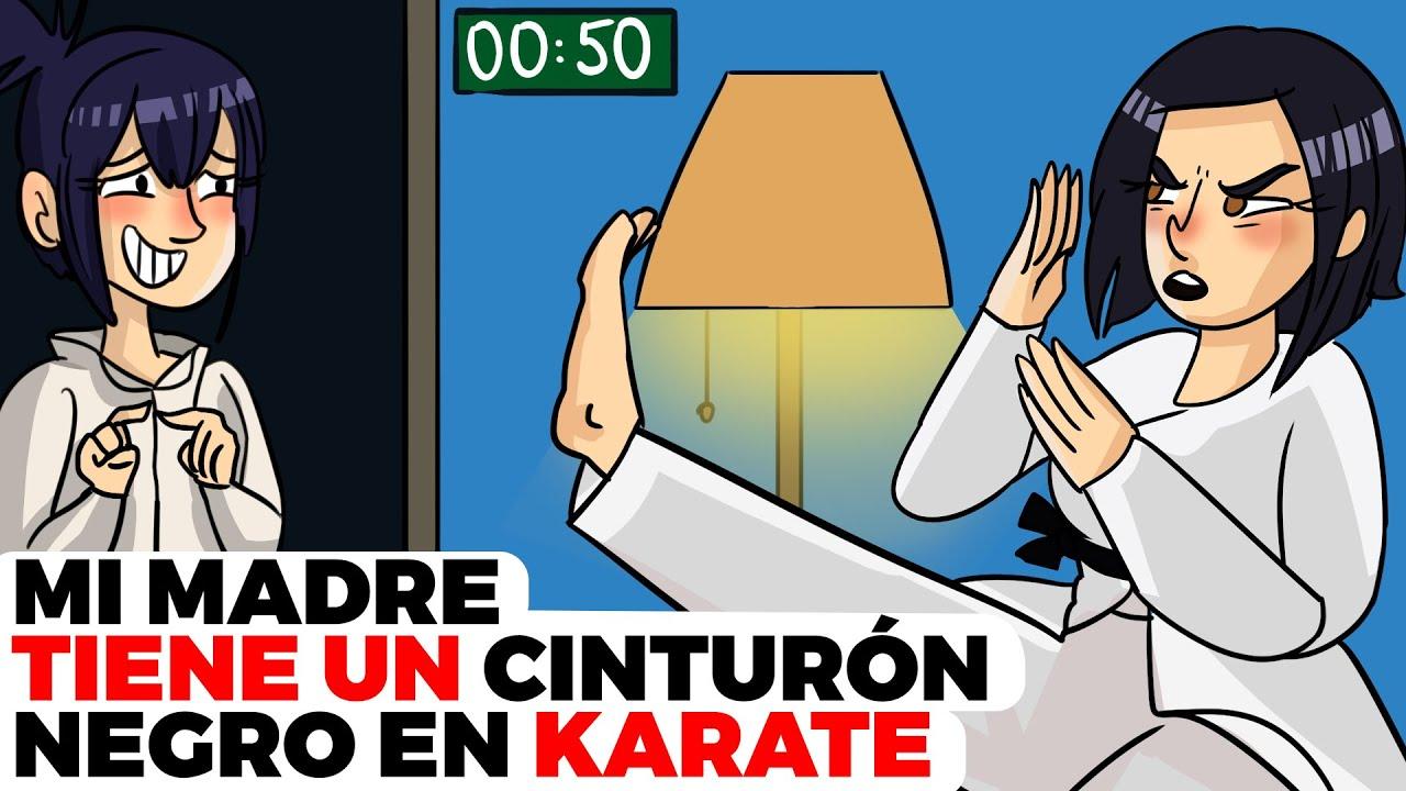 Mi madre tiene un cinturón negro en Karate | Historia animada acerca de mi héroe