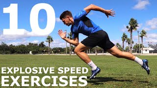 10 Explosive Speed Exercises | No Equipment/Bodyweight Training You Can Do Anywhere