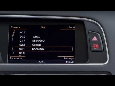 Setting Radio Presets Audi MMI Navigation plus- 2013 A4, A5, Q5, Allroad - YouTube