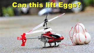 Can RC helicopter lift Eggs?? Check various experiments