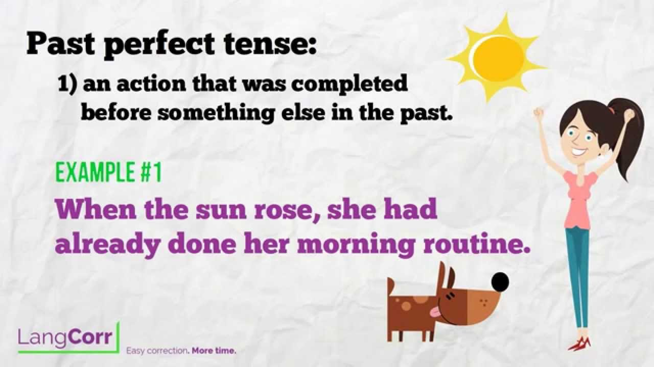 Verb Form 3: Past Perfect