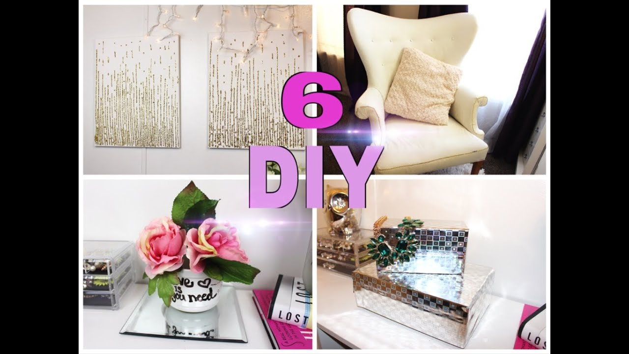 Diy 6 ideas economicas y faciles para decorar youtube for Decoracion del hogar facil