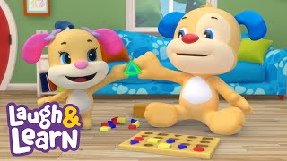 Laugh & Learn™ - Puzzle Song | Cartoons and Kids Songs | Learn ABCs + 123s | Nursery Rhymes