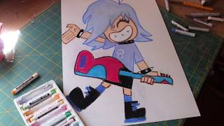 Speed drawing: Hi hi Puffy AmiYumi (Yumi)