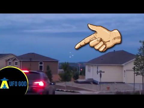 UFO sighting Cheyenne Mountain in Colorado Springs | Real UFO  (The UFO God)