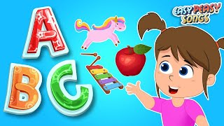 ABC Song | Phonics Song | Nursery Rhymes & Kids Songs | Easy Peasy Songs