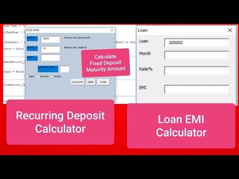 calculator-using-excel-vba-userform-||-loan-emi-||-fixed-deposit-||-recurring-deposit