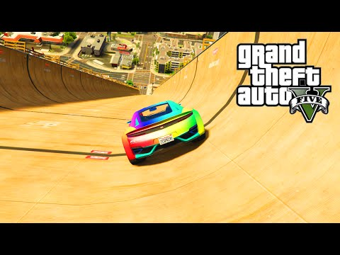 GTA 5 PC Mods - MEGA RAMP STUNTS MOD - GTA 5 RAMP MOD STUNTS & FUNNY MOMENTS!