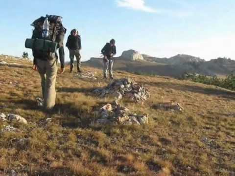 Czech Tourists Hiking  at the Crimea,Ukraine - Sept.2010