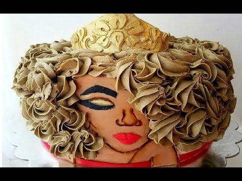 Afro Queen Cake | Marisha's Couture Cakes