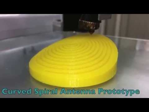 Curved Spiral Antennas for Freshwater Applications