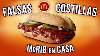 DIY FALSE RIBS (McRib from McDonald's) | EL GUZII