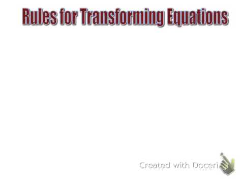 2.5 Add/Sub Equations using prop of equality