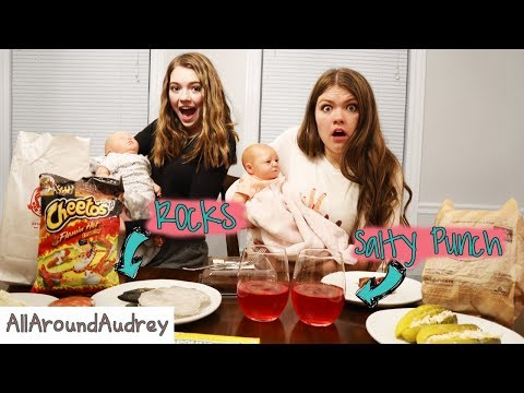 Trying My Moms Weird Pregnancy Cravings I AllAroundAudrey