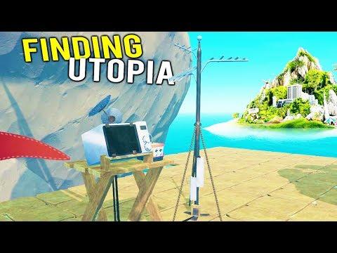 FINAL RADIO ANTENNA BUILT TO FIND THE SECRET UTOPIA ISLAND! - Raft Multiplayer Gameplay 2018