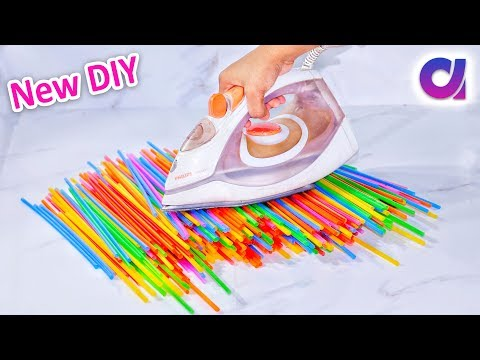 New drinking straw reuse ideas | Best out of waste | Artkala 304