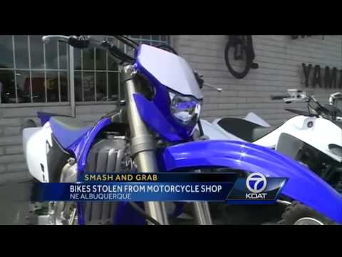 Smash and grab: Bikes stolen from motorcycle shop