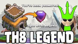 TH8 IN LEGENDS LEAGUE! - Hitting Legends Live! - TH8 Push to Legends - Clash of Clans - Episode 30