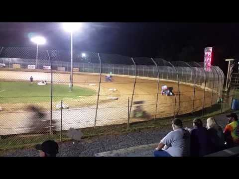 Clyde Martin Memorial Speedway - 600cc Micro Sprint Feature (clip) 16 July 2016