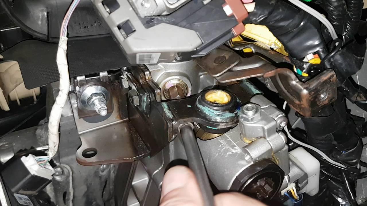 2007 Acura MDX Стук в рулевой колонке. Ремонт. 2007 Acura MDX knock on the steering column. Repairs.
