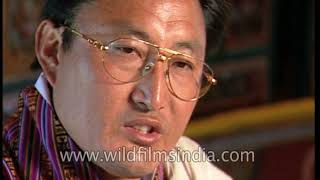 Officer Tshering talking about computers being used in the judiciary by the 1990