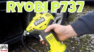 Ryobi P737 18 Volt Air Compressor Power Inflator Review / Thoughts