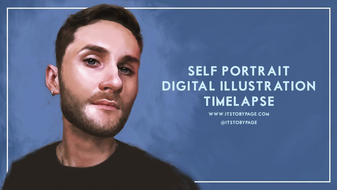 Self - Portrait Digital Painting Timelapse