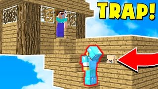 FAKE MINECRAFT HOUSE TROLL! (Minecraft Trolling)