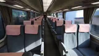 """南海電鉄 特急「サザン」 和歌山市駅発車の車窓と車内風景 Nankai Limited express """"Southern"""", Wakayamashi Station (2019.2)"""