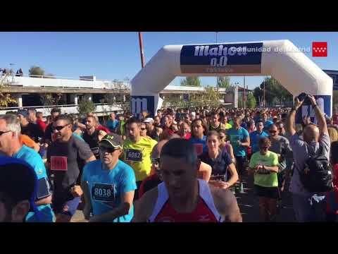29.10.2017 Salida De La Carrera Senior En El Memorial De Bomberos De La CM