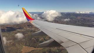 Southwest Airlines landing at Burbank, California