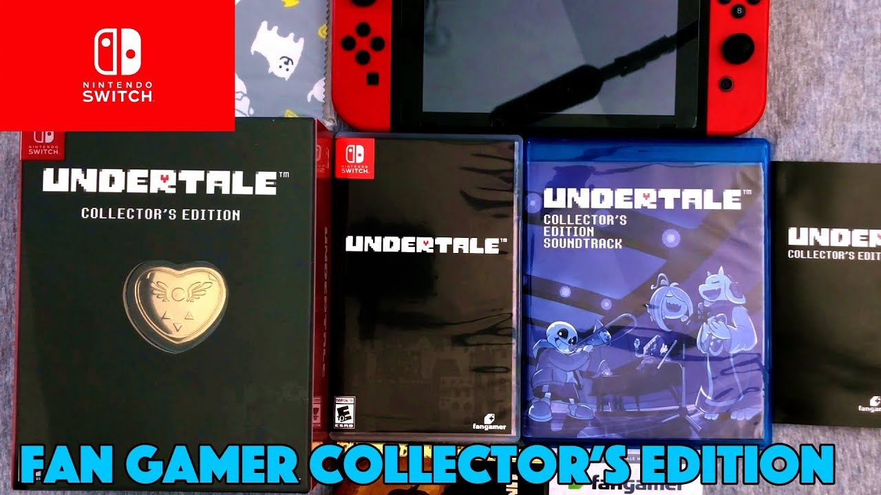 UNBOXING! Undertale Collector's Edition Nintendo Switch FanGamer LET'S PLAY