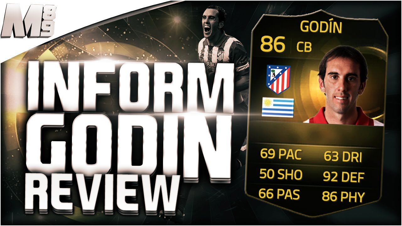 FIFA 15 UT - SIF GODIN || FIFA 15 Ultimate Team 86 Inform Player Review +  In Game Stats