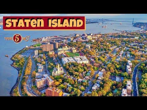 STATEN ISLAND New York City Best Tour Landmarks Drone Video
