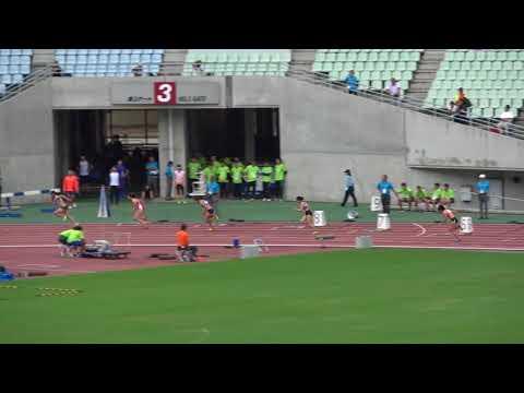 Nat'l Corp Champ2017 Women's200m heat1 Mariko NAGANO24.38(-0.5) 永野真莉子 藤森安奈 島田雪菜