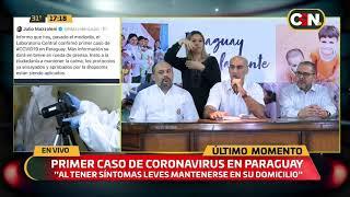 Conferencia De Prensa Por Primer Caso De Coronavirus En Paraguay .