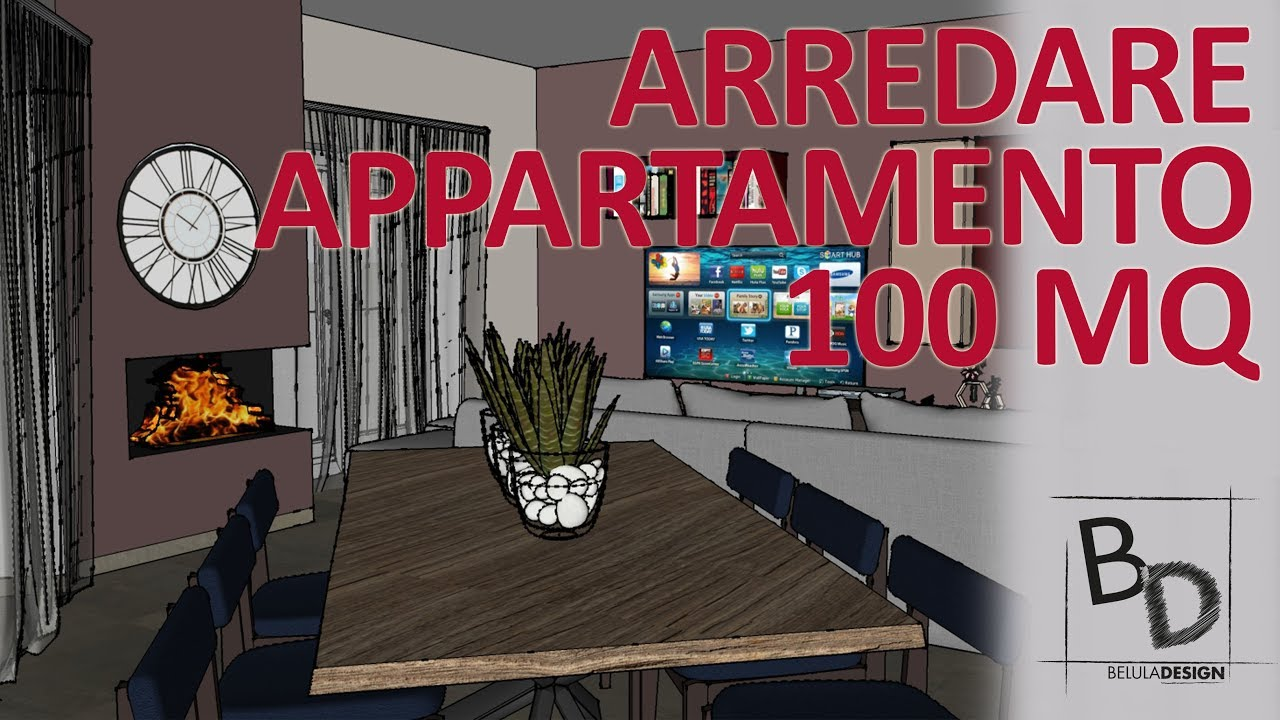 Come arredare un appartamento 100 mq con open space belula design youtube for Arredare casa di 40 mq