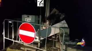 Sala Consilina, incidente stradale la notte di Natale: le immagini