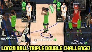 EMERALD LONZO BALL TRIPLE DOUBLE CHALLENGE! DOWN TO LAST PLAY! NBA 2K18 MYTEAM GAMEPLAY