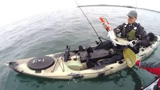 Pêche en kayak en Bretagne.