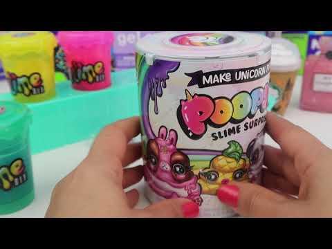 Unicorn Poopsie Slime Seti VS Slime Shakers Çalkala Slime DIY Hazır Slime Challenge Bidünya Oyuncak