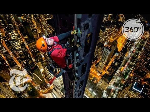 Thumbnail: Climbing 1 World Trade Center: Man on Spire | 360 VR Video | The New York Times