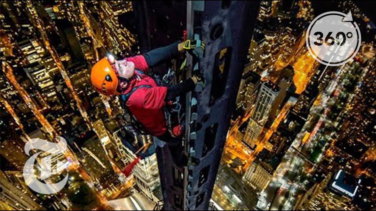 Climbing 1 World Trade Center: Man on Spire 360 VR Video | The New York Times