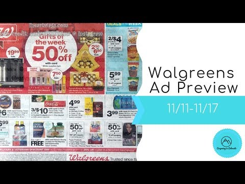 Walgreens Early Ad Preview 11/11-11/17