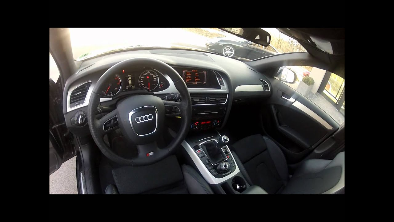 11446 audi a4 avant 2 0 tdi 143ch s line noir youtube for Interieur cuir audi a4