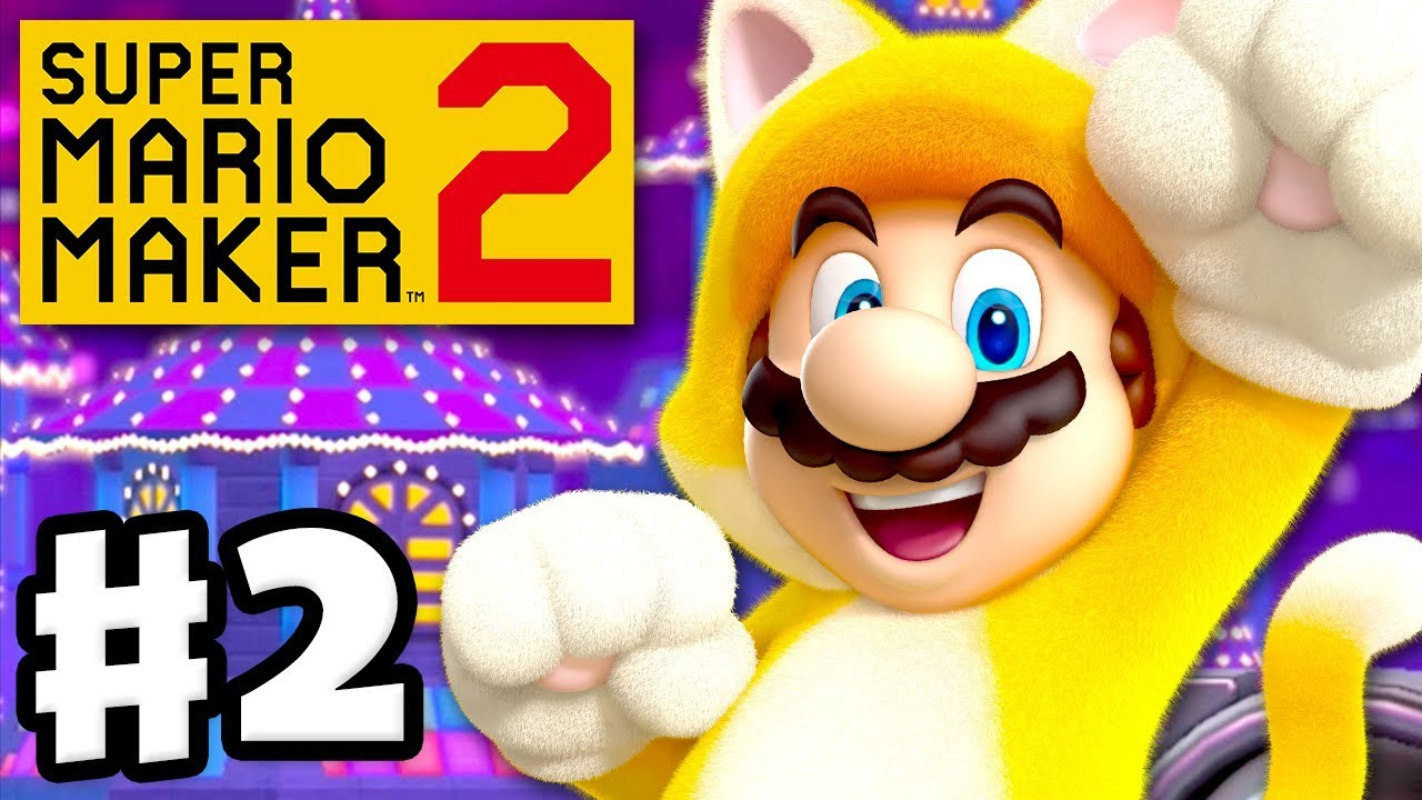 Super Mario Maker 2 - Gameplay Walkthrough Part 2 - Cat Mario and  Speedrunning! (Nintendo Switch)