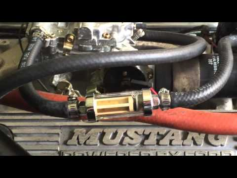 1998 mustang fuel filter location 1968 ford mustang with sputtering fuel filter - youtube