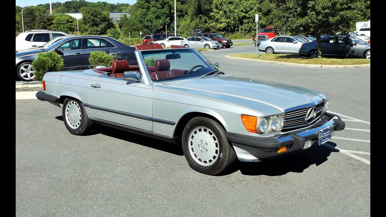 1986 mercedes benz 560sl convertible 5 5l v8 start up tour and review