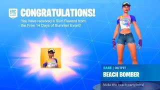 *NEW* How To Get ALL 14 DAYS OF SUMMER SKINS in Fortnite FREE! (Every SKIN FREE!)